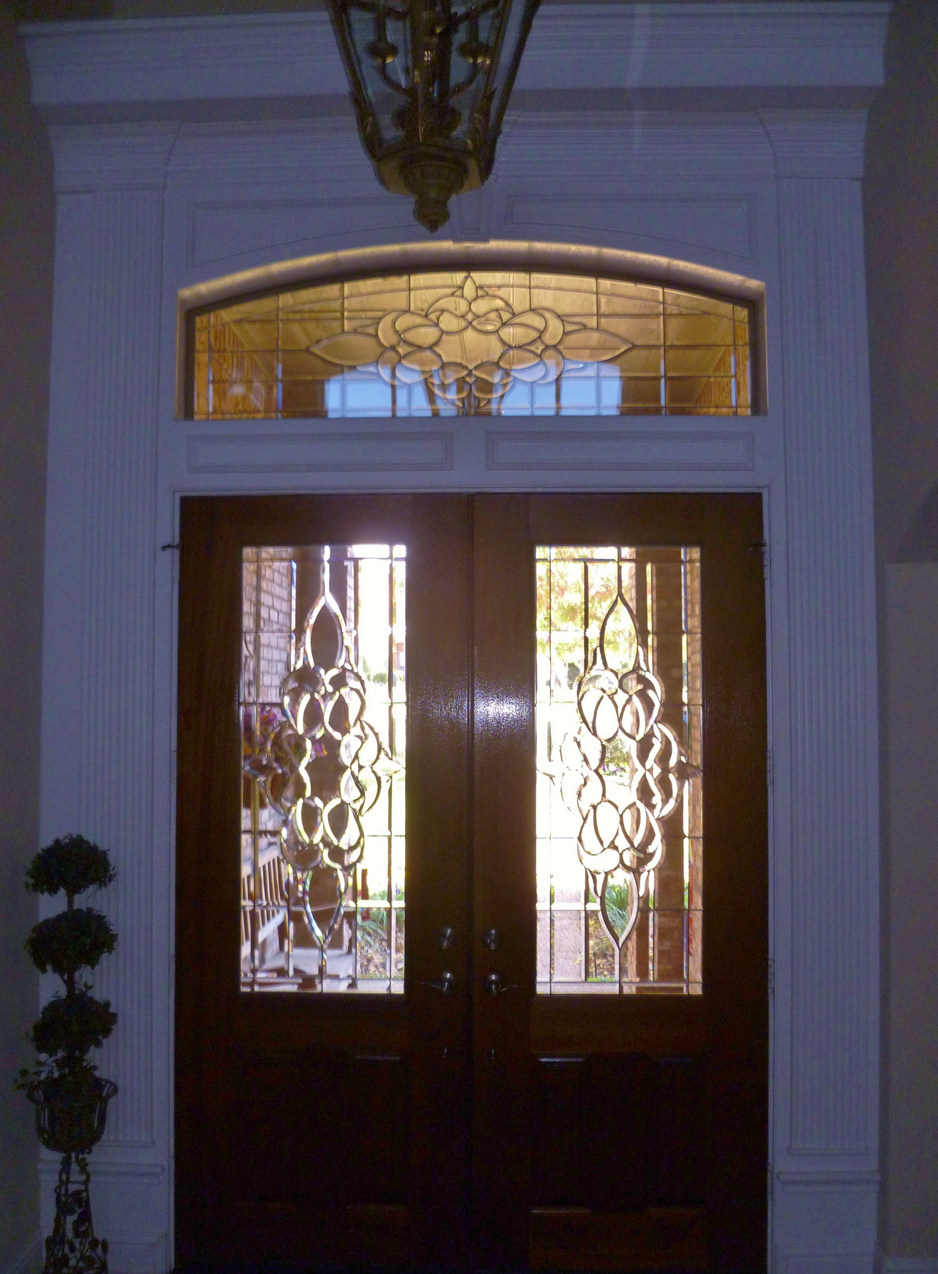 Replace The Transom Glass Above The Door With Leaded Glass