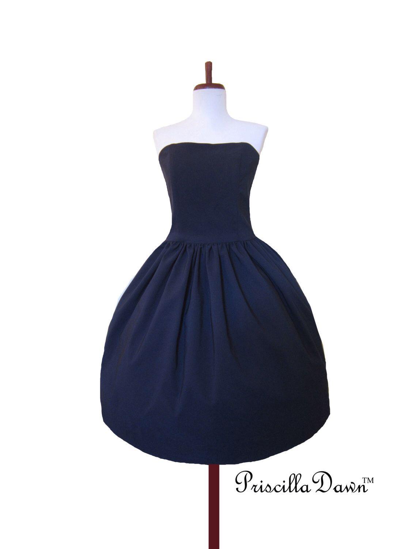 Kleine dunkelblaue Kleid LIMITED EDITION 2015 Retro Abend Cocktail ...