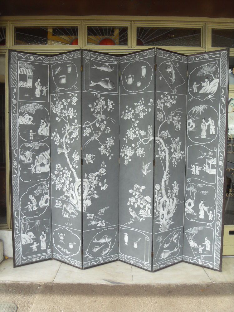 Large Chinese Style Hand Painted Screen / Decorative Room Divider #ChineseOriental #Screens