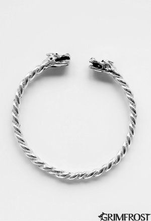 Grimfrost - Dragon Arm Ring, Silver