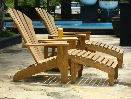 Smith And Hawken Teak Patio Chairs