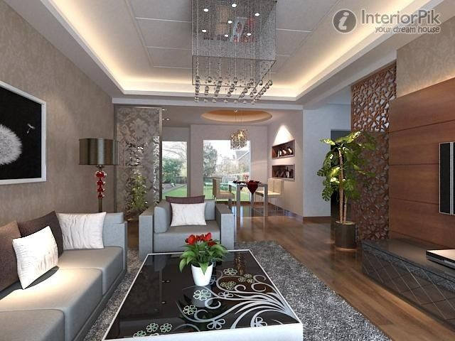 Effect picture of Chinese style living room plaster ceiling decoration