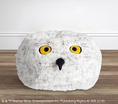 Outstanding Harry Potter Hedwig Faux Fur Beanbag Bean Bag Harry Andrewgaddart Wooden Chair Designs For Living Room Andrewgaddartcom