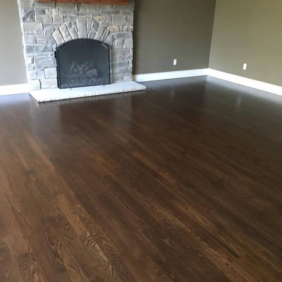 Stained Red Oak With Tung Oil Finish Superbflooring Design Superbfloors Hardwood Floors Wood Tungoil Wood Floor Colors Floor Colors Tung Oil Floor