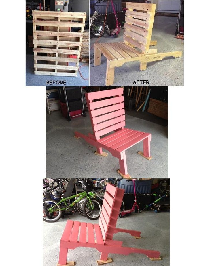 Our Pallet Chair Project.