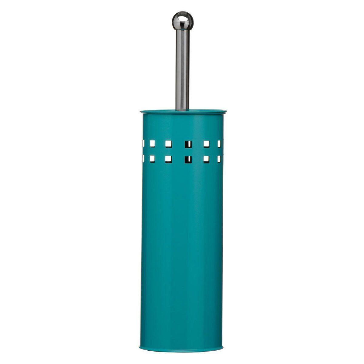 New Premier Square Design Stainless Steel Bathroom Blue Teal Toilet Brush Holder Amazon Co Uk Kit Stainless Steel Bathroom Toilet Brush Holders Blue Bathroom