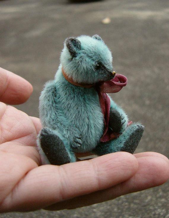 "Dorian in Light Teal Miniature 3"" by Aerlinn Bears"