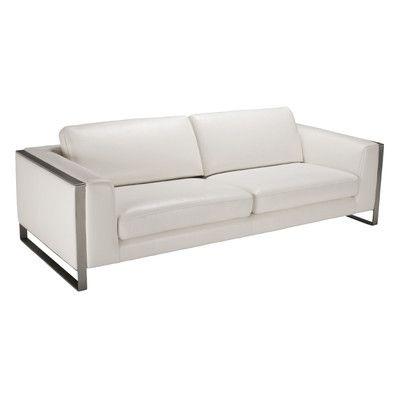 Terrific Sunpan Modern Bugatti Grain Leather Sofa Allmodern Machost Co Dining Chair Design Ideas Machostcouk