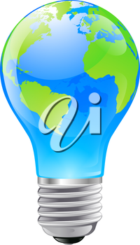 Iclipart clip art illustration of an electric light bulb with a iclipart clip art illustration of an electric light bulb with a world globe publicscrutiny Images