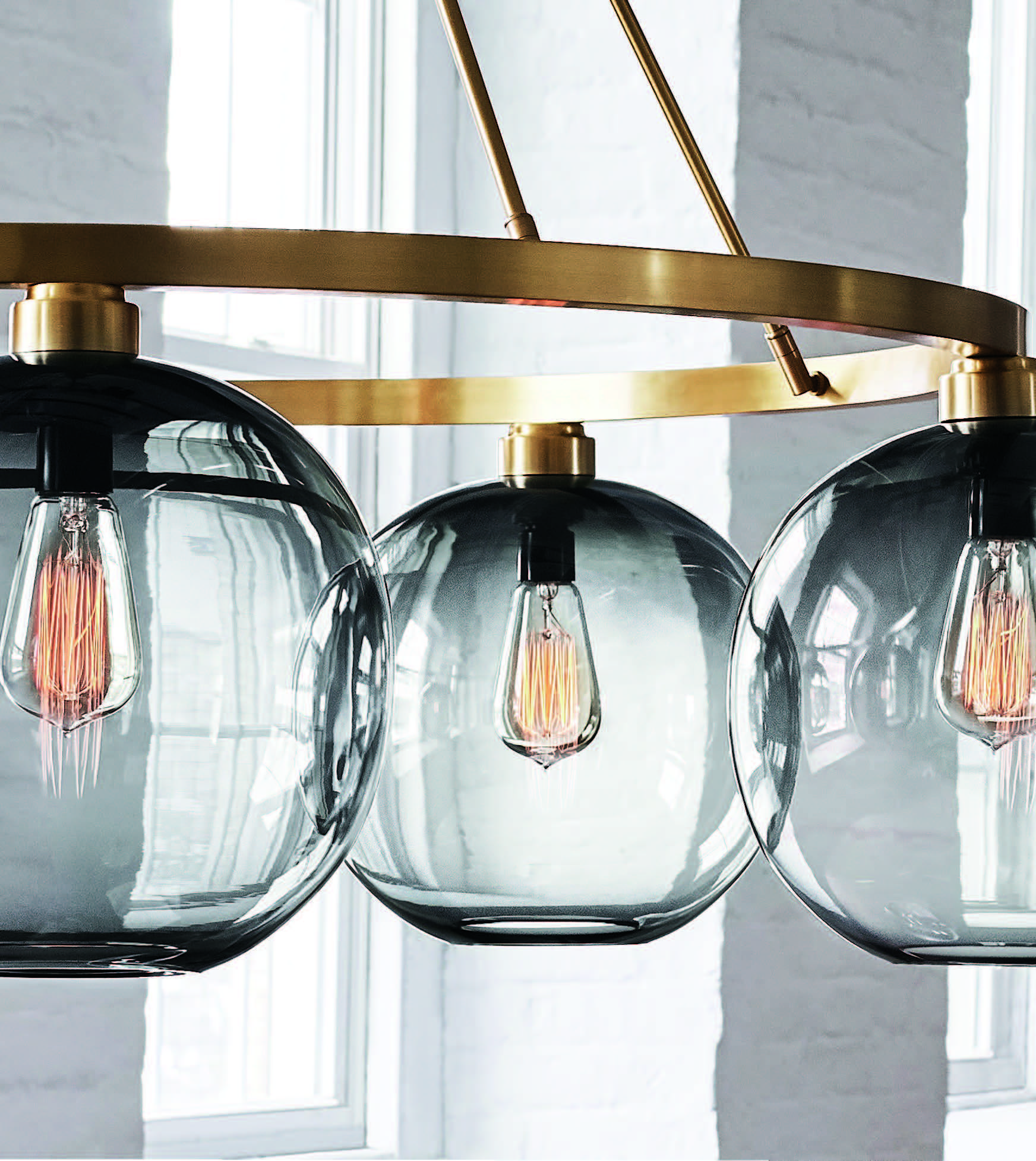 Handblown Glass Pendants By Niche Modern All Made With Love In Beacon New York Shop The Collection On Rouse Home Niche Modern Handblown Glass Pendant Modern