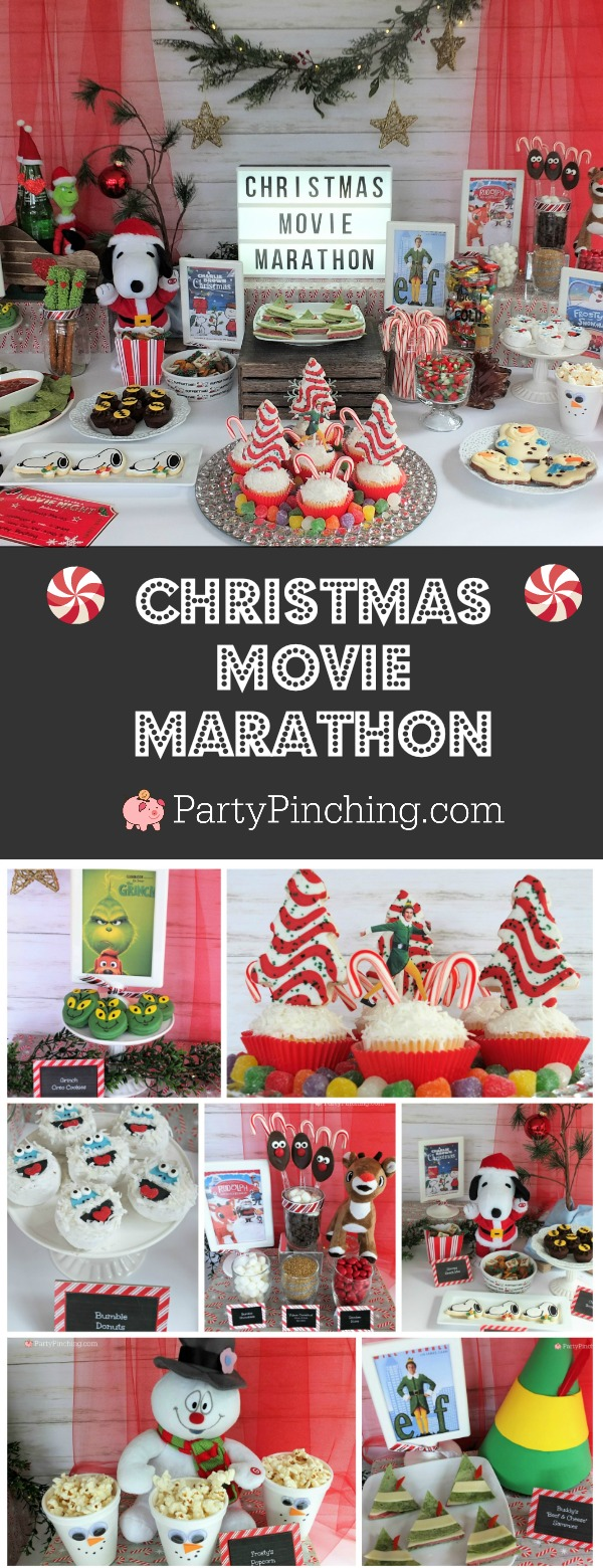 Christmas Movie Marathon Night Grinch Elf Charlie Brown Frosty Rudolph Christmas Movie Night Kids Christmas Party Movie Night For Kids
