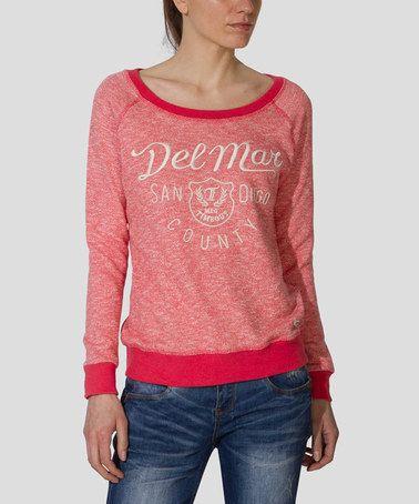 Love this Light Melon 'Del Mar' Sweatshirt on #zulily! #zulilyfinds