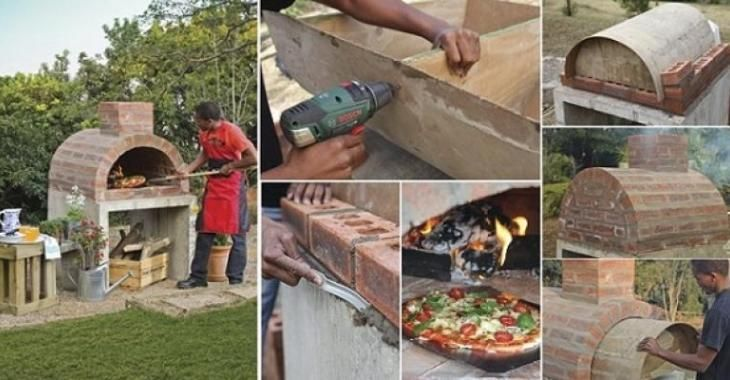 Fabriquer son propre four à Pizza! Pizzas