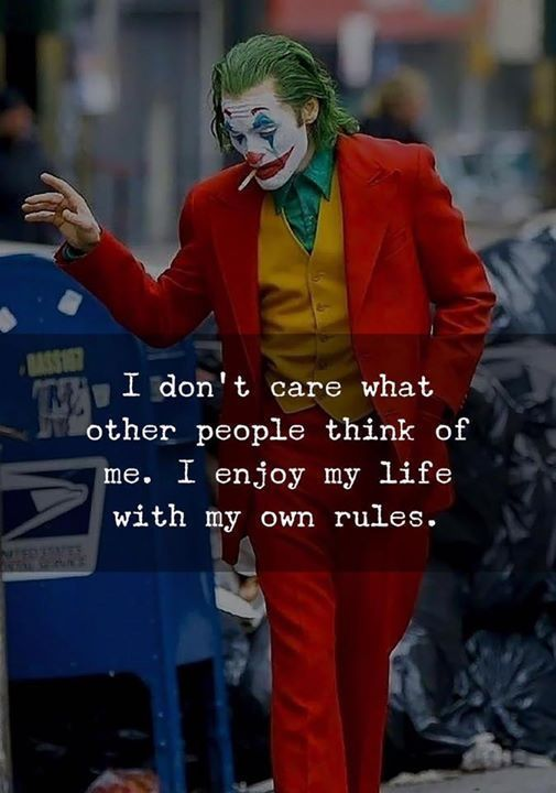 Inspirational Positive Quotes :I dont care what other people think of me. I enjoy my life with my own rules.