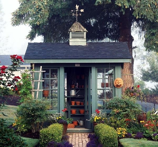 I want a garden shed like this - guess I will have to be into gardening though...