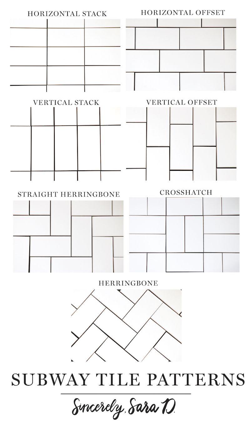 7 different subway tile patterns
