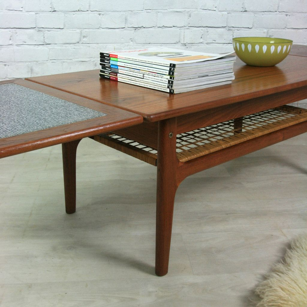 Danish Teak Trioh Extending Coffee Table