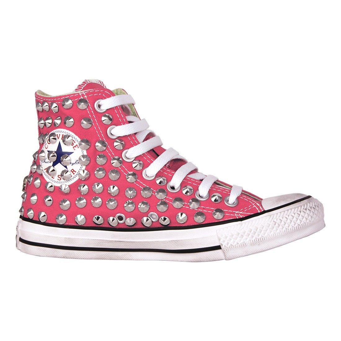 converse all star argento basse