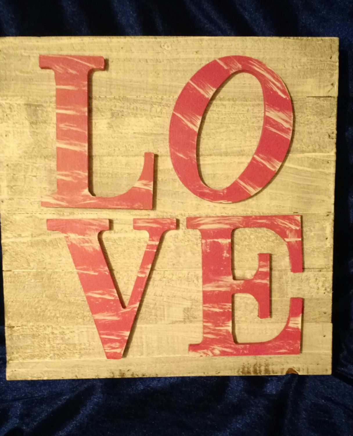 3d Wooden Sign with Wooden Letters Love Hot Pink Wall Filler Rustic ...