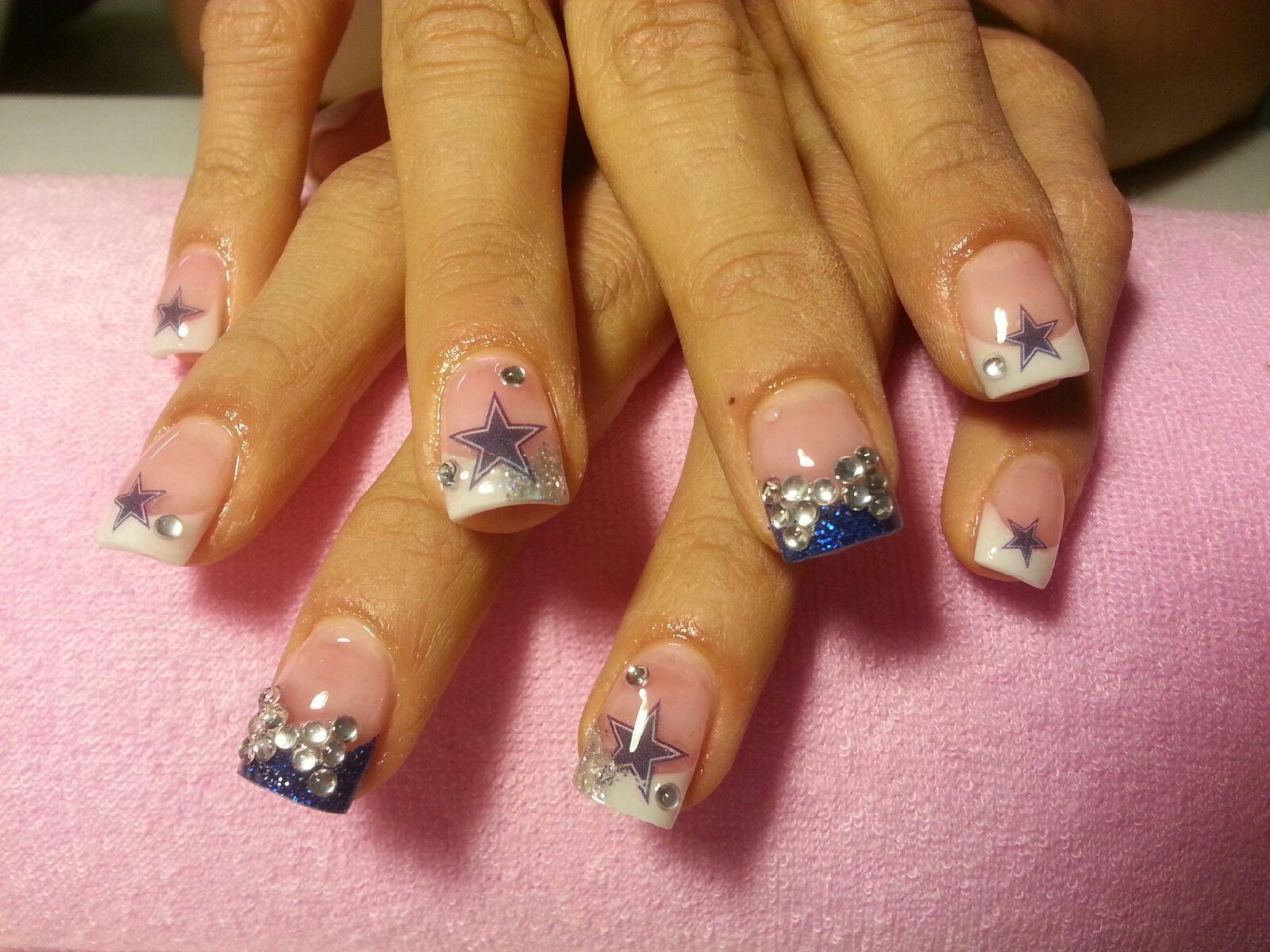 Dallas Cowboys nails | Nails | Pinterest | Dallas cowboys nails ...
