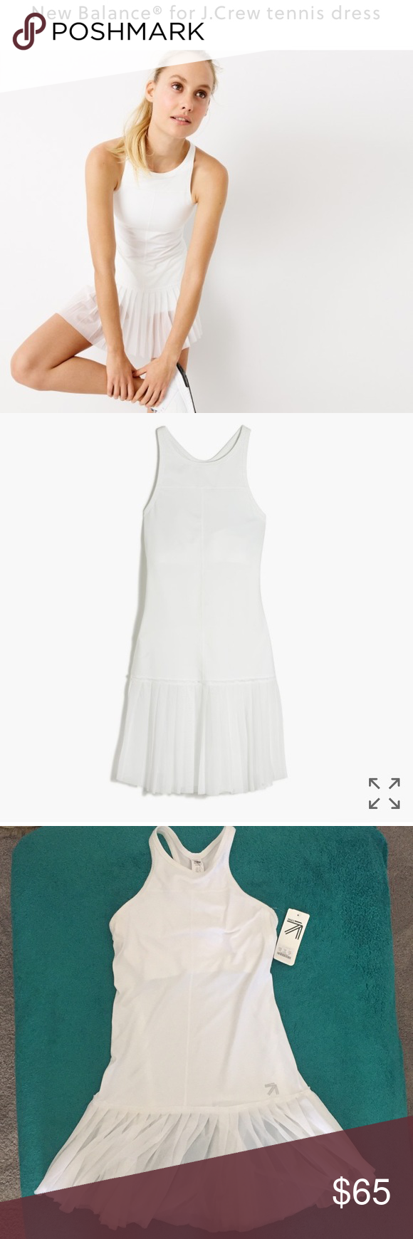 New Balance For J Crew Tennis Dress Tennis Dress Dresses Sheer Skirt
