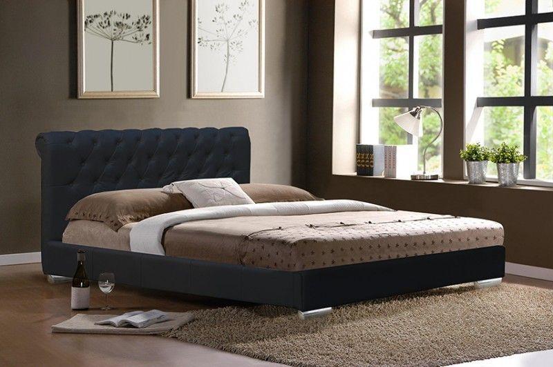 Bett Monaco Inkl Lattenrost Kunstleder Design Schwarz Bed Leather Bed Furniture