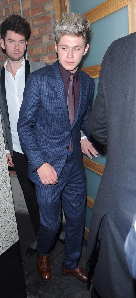 Niall, I love when he wears a suit.