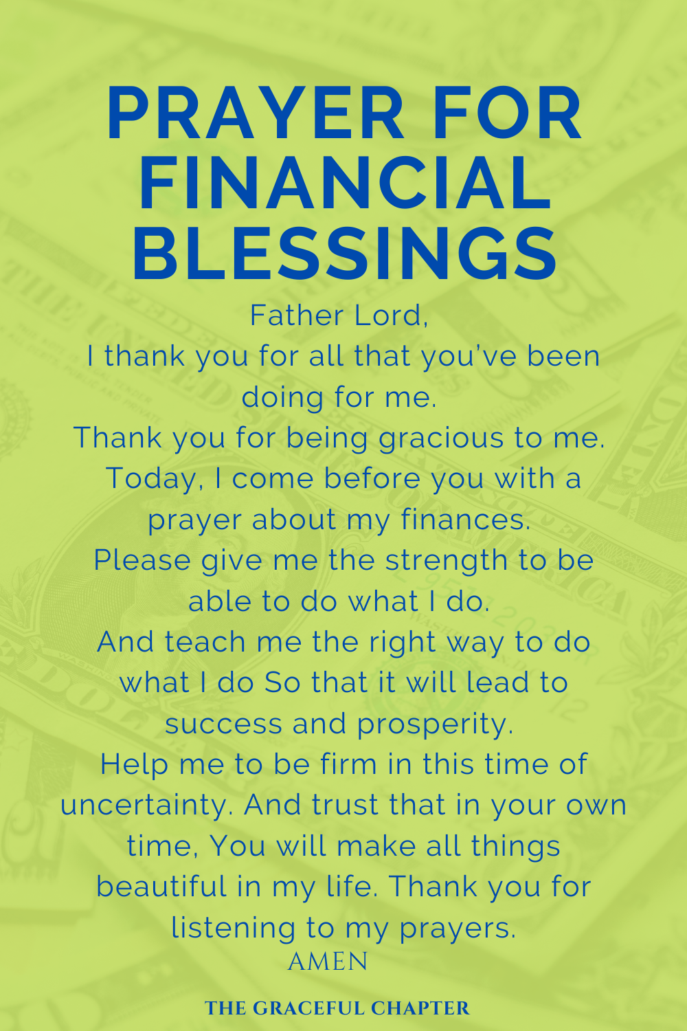 3 Prayers For Financial Breakthrough - The Gracefu