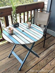 Patio Table Chalk Paint Makeover