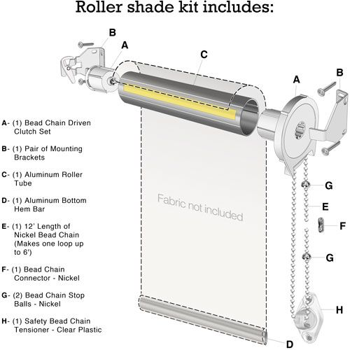 Roller Shade Kit Diagram Roller Shades Custom Roller