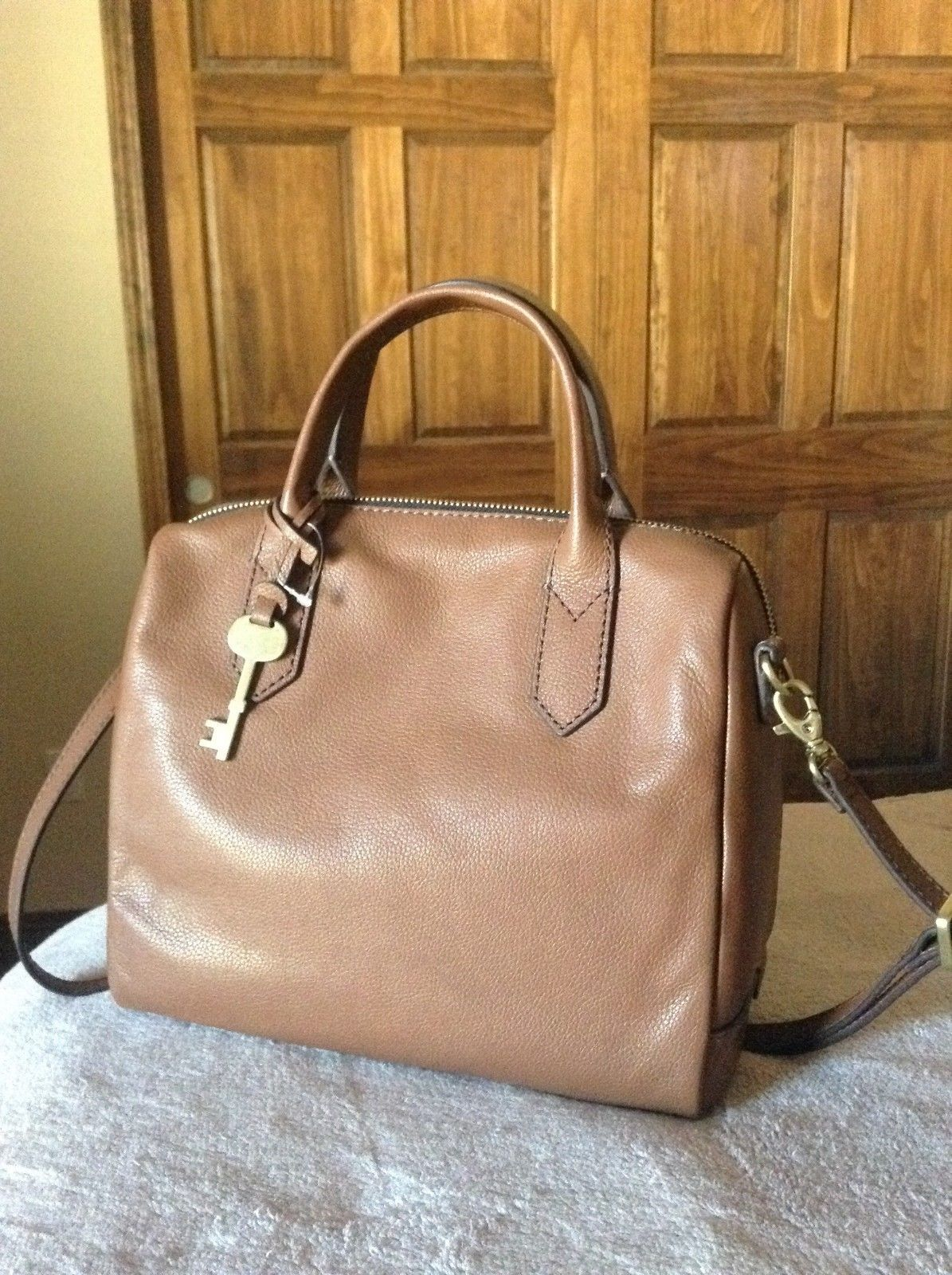 e6f50f4030 Fossil Fiona Satchel Brown Rt  181.44 w tax