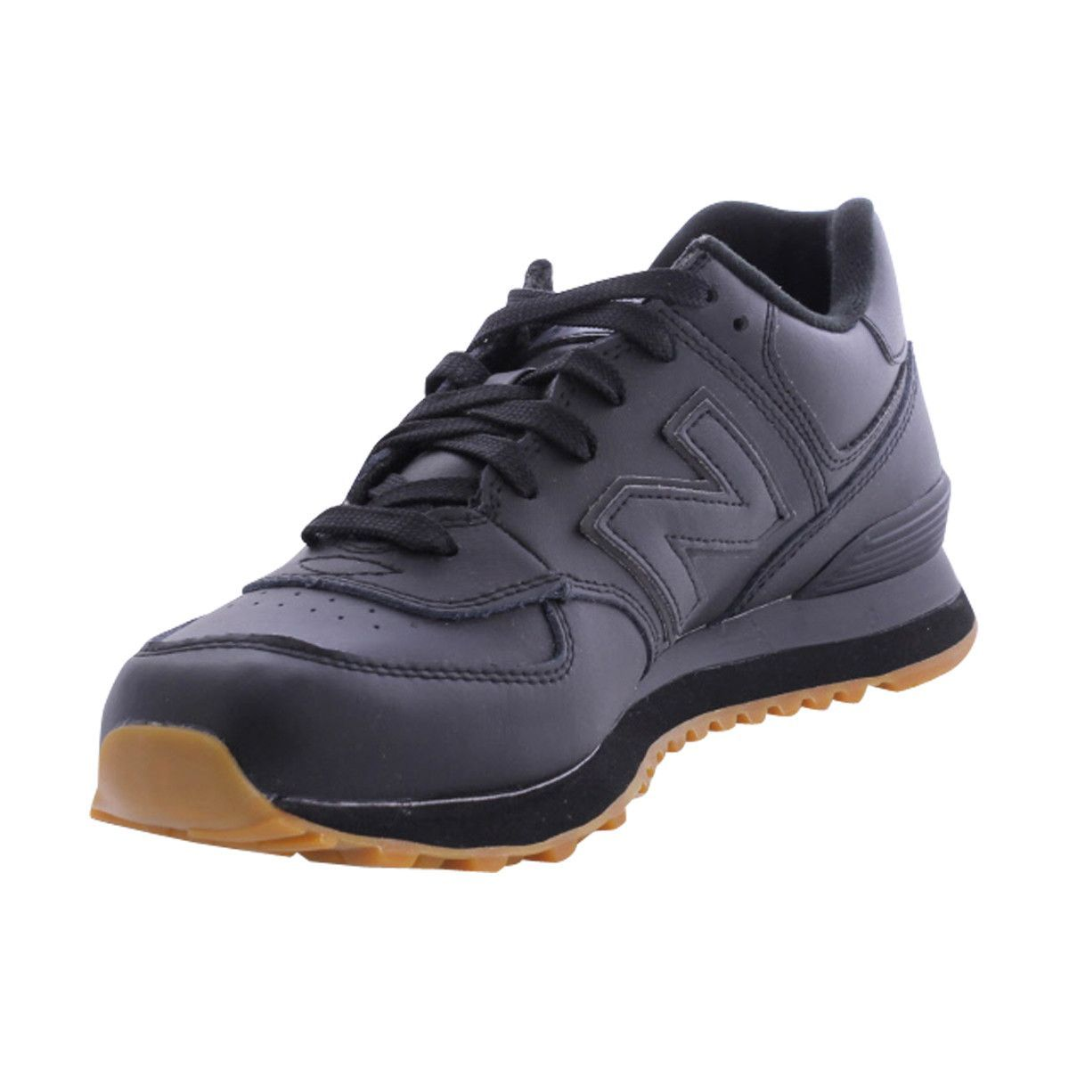 b5a8225d57e0 New Balance - Men s Leather Collection Sneakers - Black