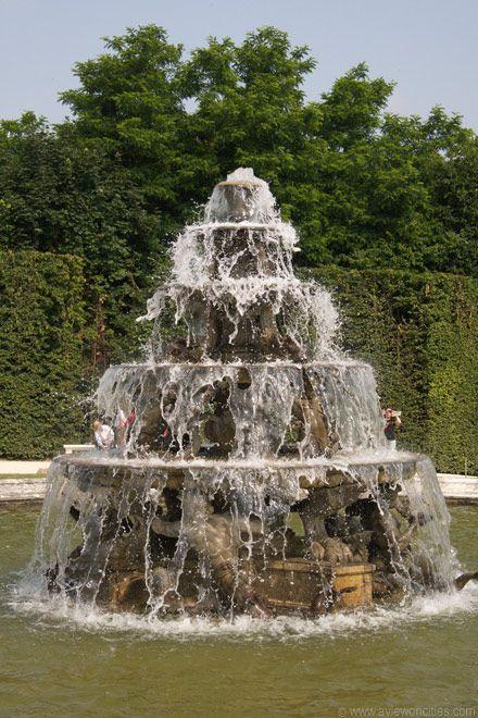 Pyramid Fountain Versailles Water Fountains Waterfalls Palace Fonts