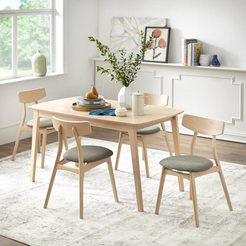 Connors Solid Wood Dining Set Solid Wood Dining Set Orange Dining Chairs White Dining Chairs