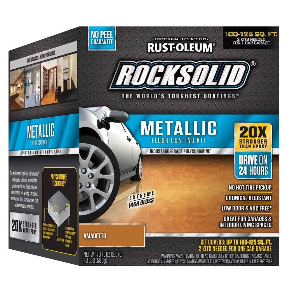 Rust-Oleum RockSolid 70 oz  Amaretto Metallic Garage Floor