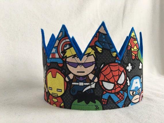Birthday Super Hero 3rd Bday Superhero Party crown Birthday Crown Boy Birthday Superhero Crown Superhero Birthday Superhero Party Hat