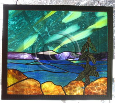 moon light stained glass patterns   Northern Lights Magic by Stained Glass Artist Yvonne DeViller