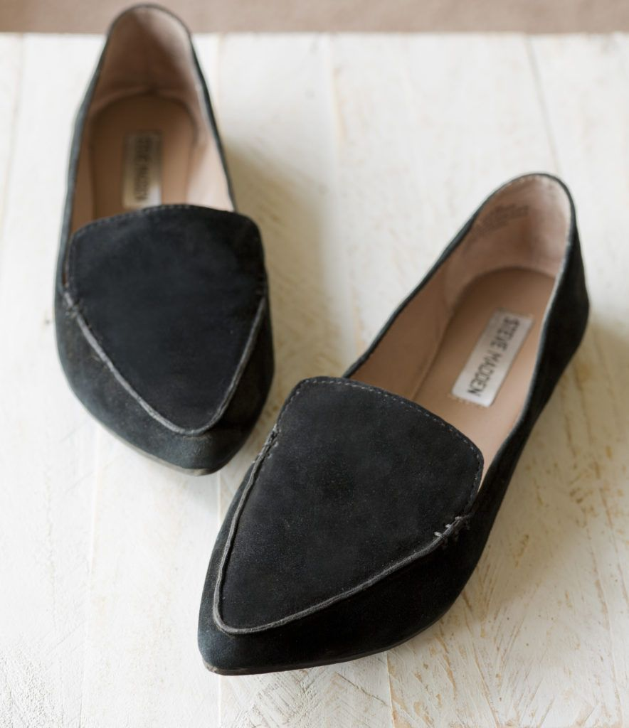 9e95bd7952f Steven Madden Feather black suede loafers | Shoes in 2019 | Shoes ...