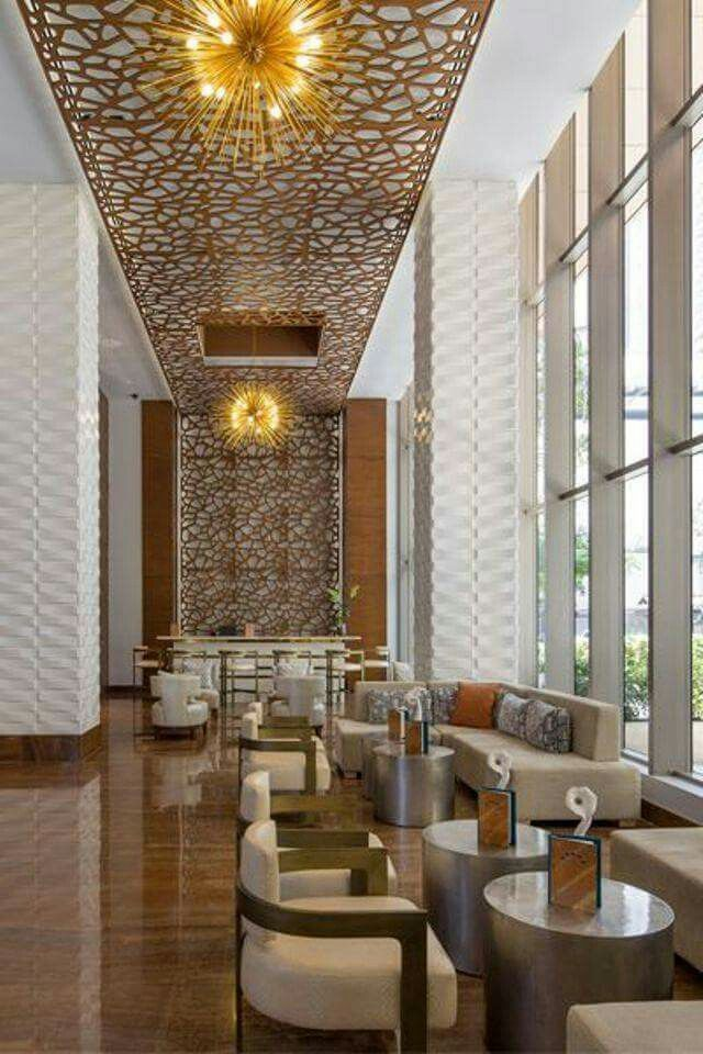Pin by kusno utomo on ceiling hotel lobby design lobby for Top hotel decor