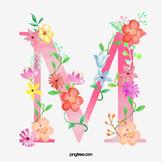 Flowers Letter M Letter M Flower Png Transparent Clipart Image And Psd File For Free Download Flower Letters Illuminated Letters Flower Alphabet