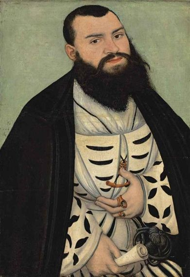 Lucas Cranach the Elder, Portrait of Dr. Johann Scheiring