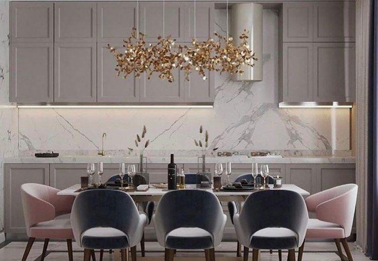 يجب وضع اضاءة موجهة فوق طاولة الطعام وننصح بأن تكون الإضاءة من ٣٠ آلى ٣٤ بين الطاولة والإضاءة لكي تعطي انتشار كامل على الطاولة Interior Design Table Home Decor