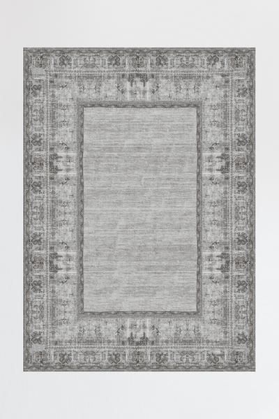 Vintage Daisy Bordered Grey Rug In 2019 Carpets Grey