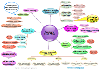 Social Science : Mind map: Early farming in South Africa | The