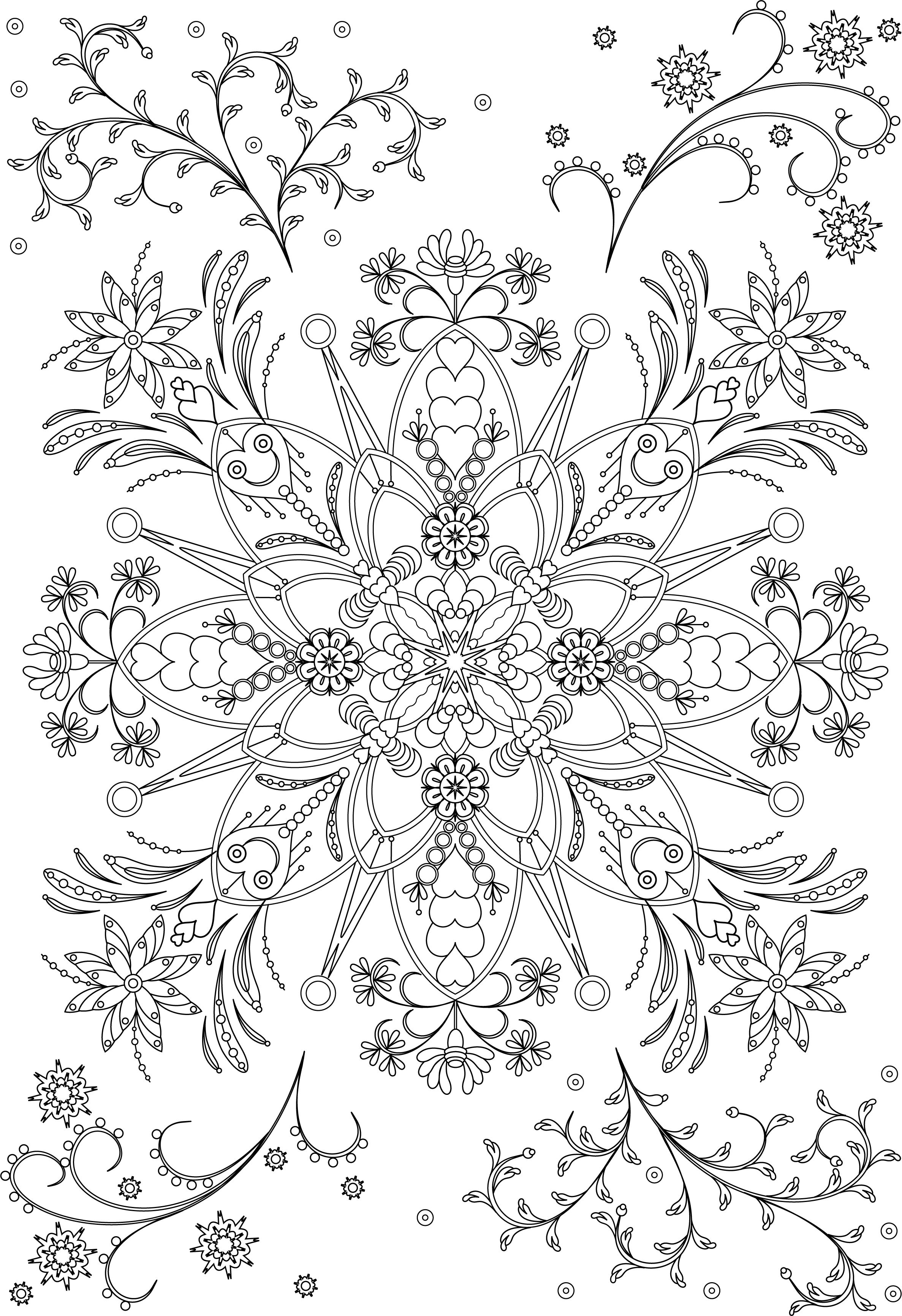 Decorative Round Ornament Flower Mandala Vector Illustration For Coloring Pages Anti S Abstract Coloring Pages Mandala Coloring Pages Pattern Coloring Pages