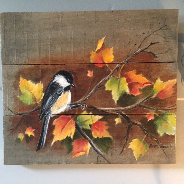 Add A Rustic Touch To Your Home Decor With This Fall Calling Acrylic Painting Showcased On A Rustic Pallet Canvas D Pallet Painting Wood Art Autumn Painting