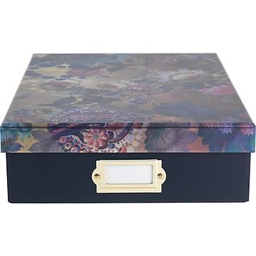 Cynthia Rowley Document Box Gilded Gold Floral Gold Gilding