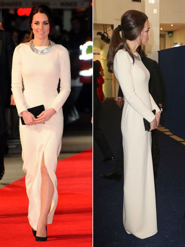 Kate Middleton showing off a major thigh-high slit there!