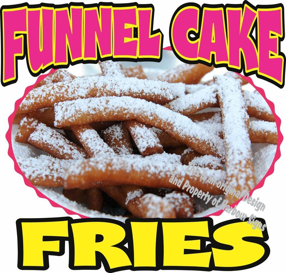 Funnel cake fries concession decal 14 cakes restaurant