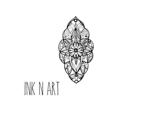 Mandala Boho extraordinaire motif Tattoo InknArt par InknArt